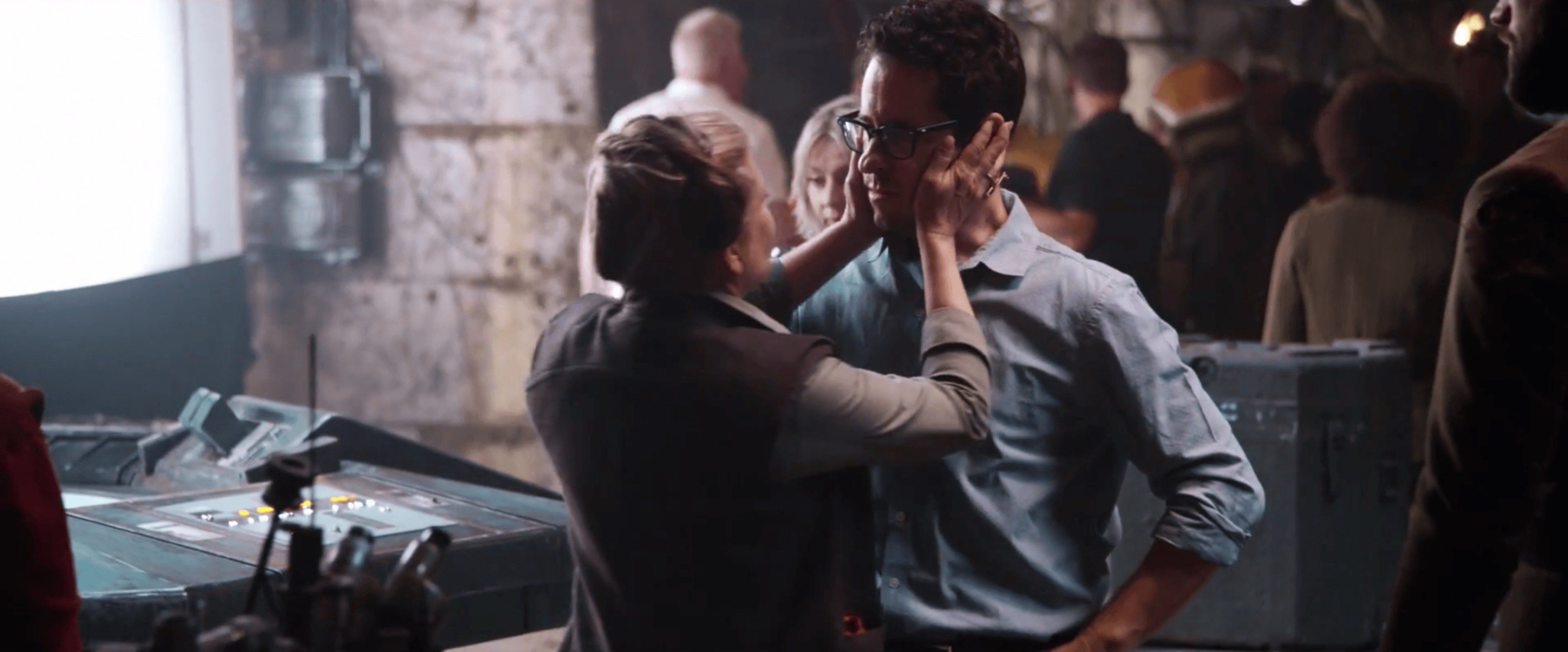 Carrie Fisher and JJ Abrams