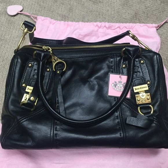 Juicy Couture leather purse Never used with tags attached. Hand bag or shoulder bag option. Juicy Couture Bags Shoulder Bags