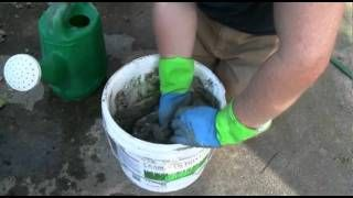 How to make concrete leaves for fountains and deco