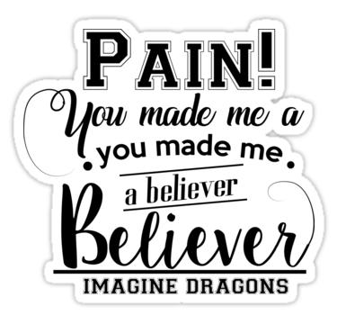 Imagine Dragons Believer Sticker By Dalyrincon In 2021 Imagine Dragons Imagine Dragons Lyrics Believer Imagine Dragons