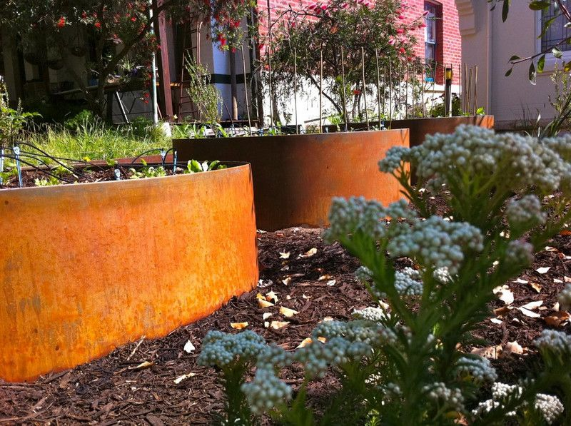 Beautiful Rusty Raised Beds Sustainable Garden Design Perth