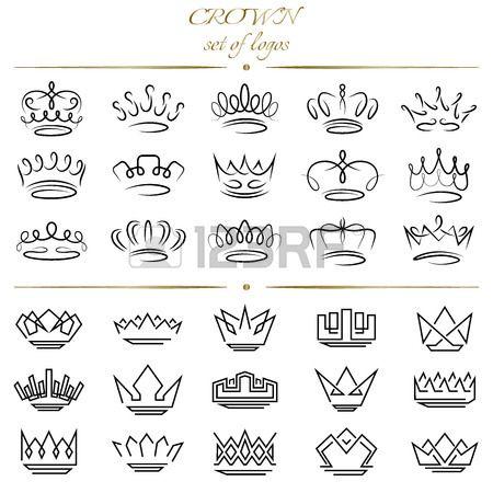 Set De Couronnes Dans Des Styles Differents Tattoo Tattoos
