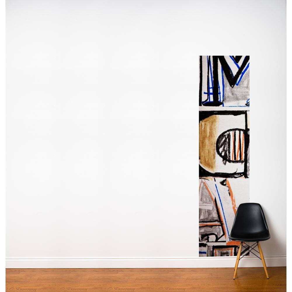 Adzif 24 In X 96 In Multi Color Grafitti Fresk Wall Decal Multicolour Modern Wall Decor Wallpaper Wall Decals