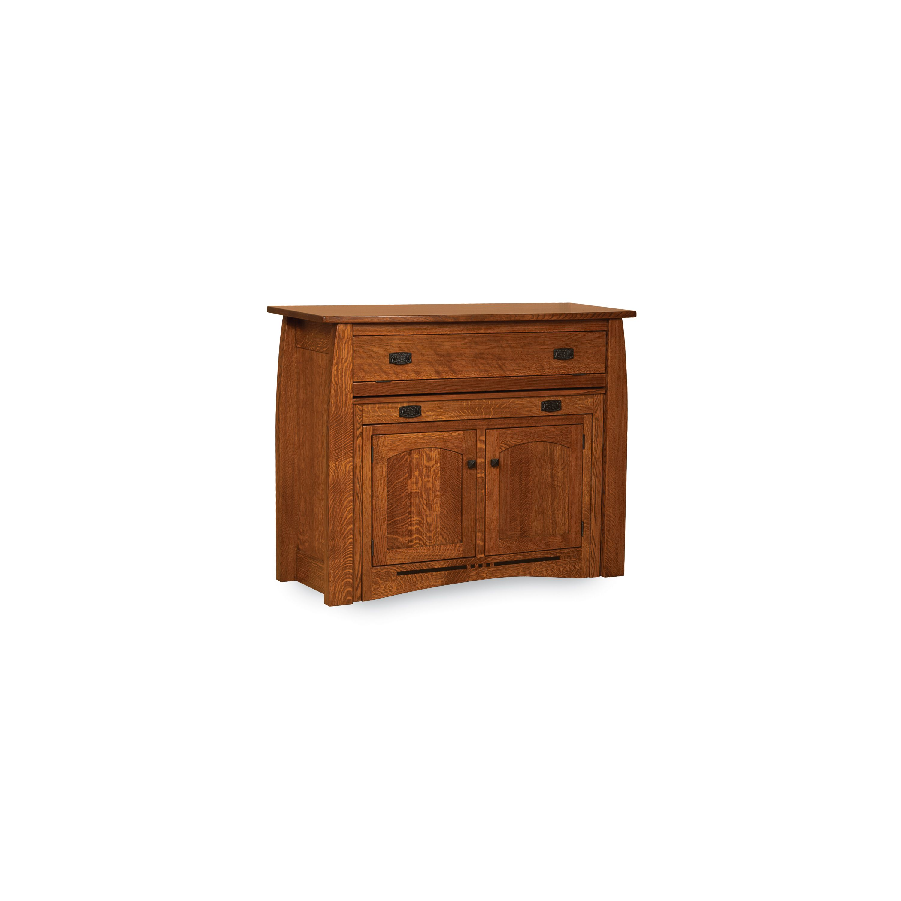 The Colebrook kitchen island is functional times three with its