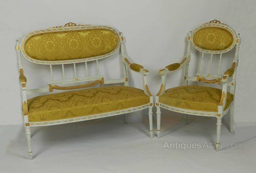French Louis XVI Style Canapé Sofa Settee With Arm - Antiques Atlas
