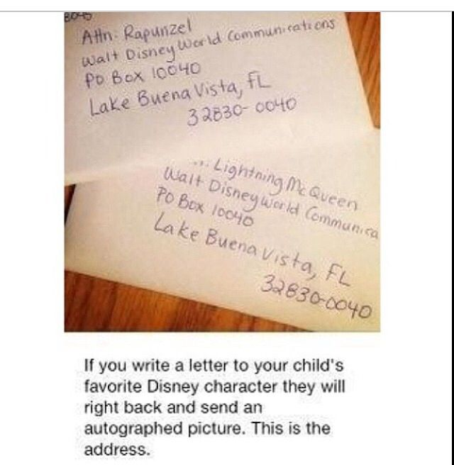 Send Letters To Disney Characters  Kid Fun