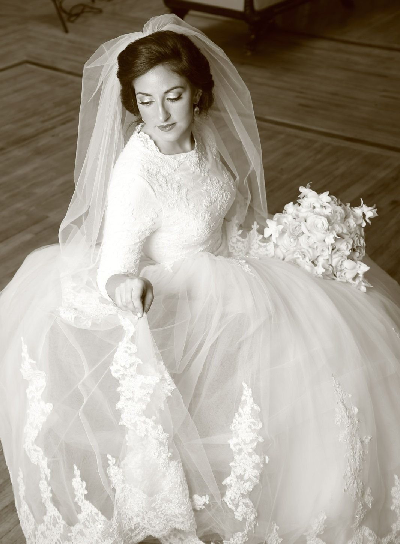 Modest wedding Gown | Aliza\'s Bridal Boutique #tzniius | Modest ...