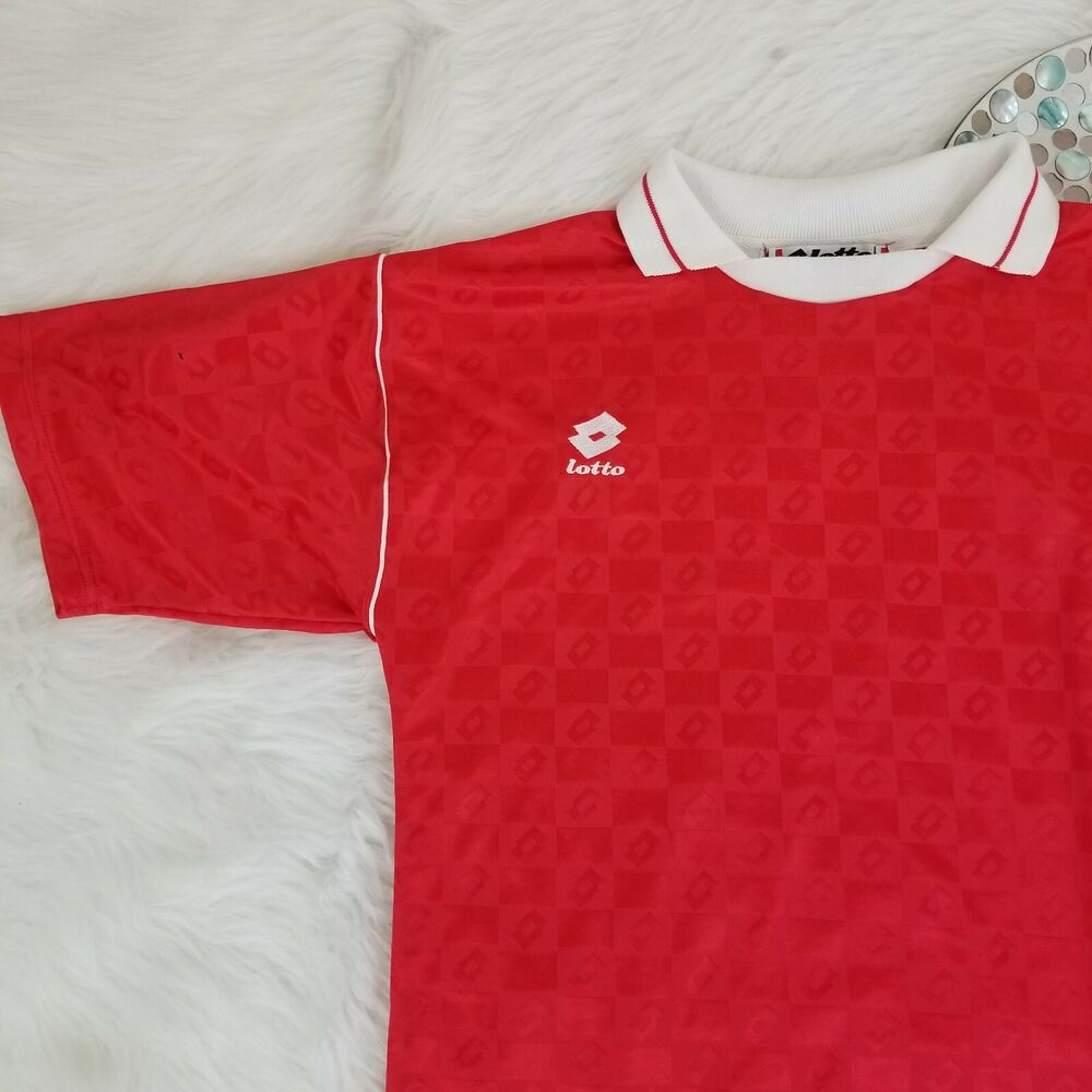 Details about lotto italia mens soccer jersey size medium