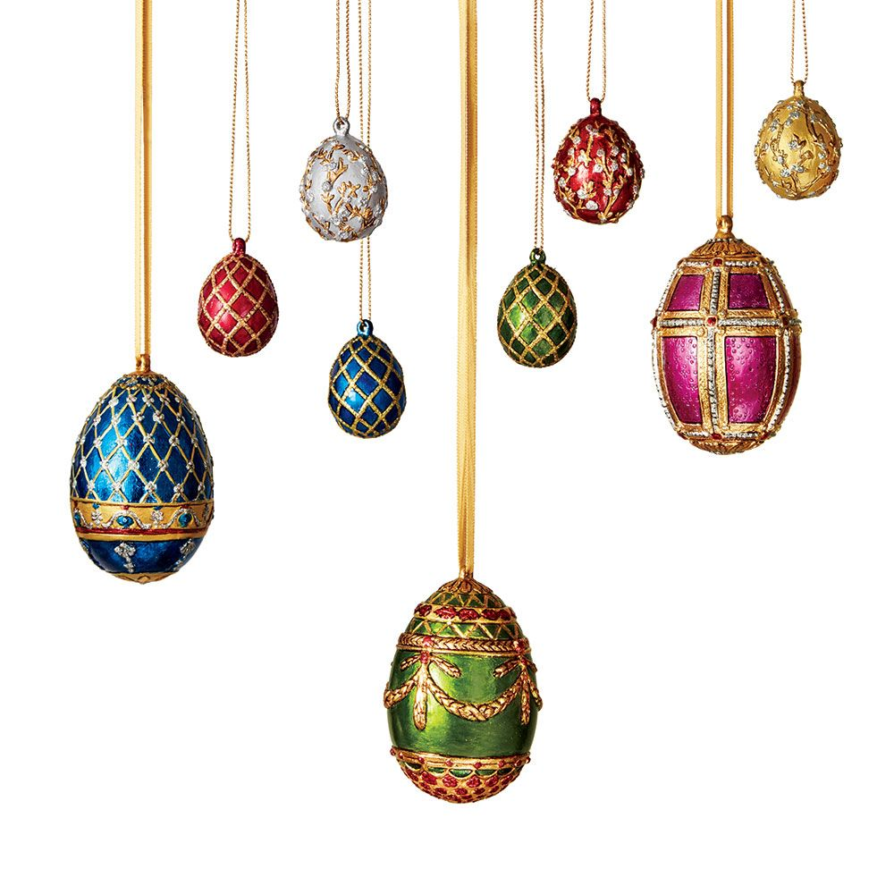 Russian imperial large and mini jewel egg ornament set jewel tones russian imperial large and mini jewel egg ornament set negle Gallery