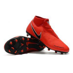 c4192fe242491 Nike Phantom VSN Academy DF FG MG Red Black Mens Football Boots, Football  Shoes,