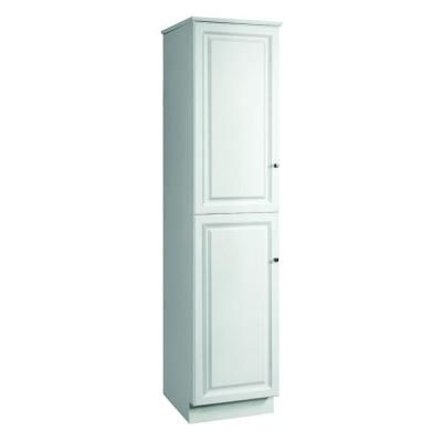 Design House Wyndham 19 In W X 84 In H X 22 1 2 In D 2 Door Bathroom Linen Storage Floor Cabinet Unassembled In White Semi Gloss 539700 The Home Depot Linen Cabinet Cabinet Shelving House Design