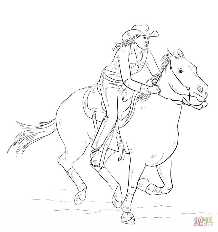 http://colorings.co/cowgirl-coloring-pages-printable/ | Colorings ...