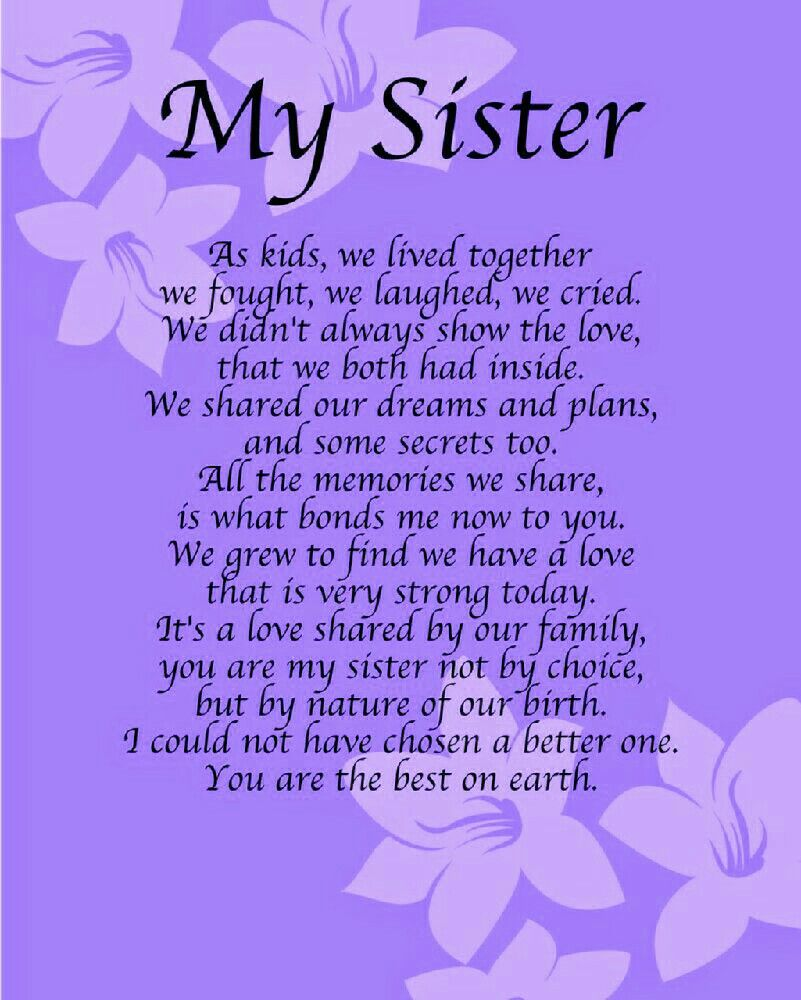 My Sister Sister Pinterest Poem Celebration Quotes And