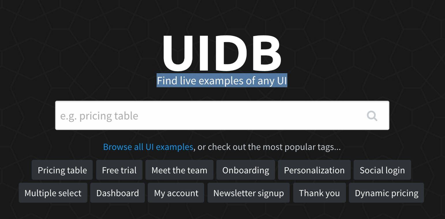 UIDB Product Hunt Onboarding, Web design, Tool design