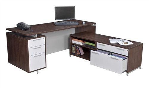 modern desk with storage small onedesk modern lshaped desk with low credenza maximum storage in