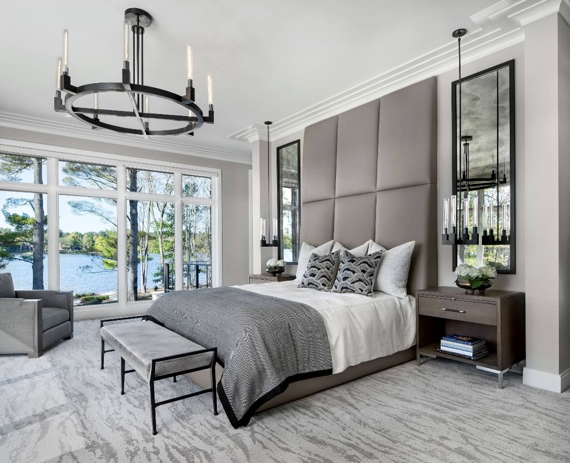 Amazing modern grey bedroom decor  Modern grey bedroom, Luxurious