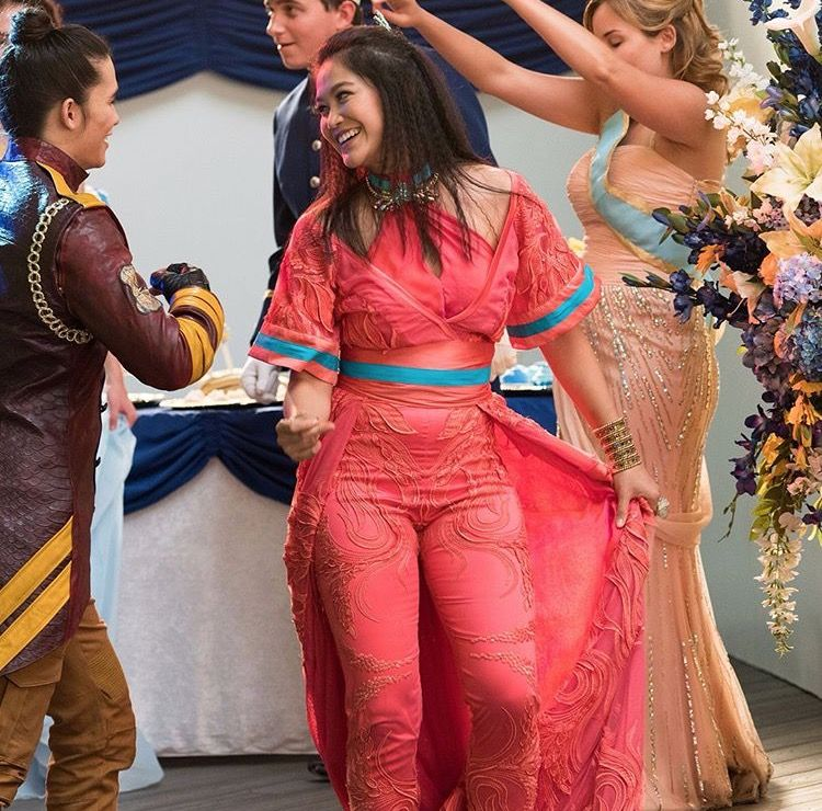 Booboo Stewart as Jay and Diane Doan as Lonnie in the royal