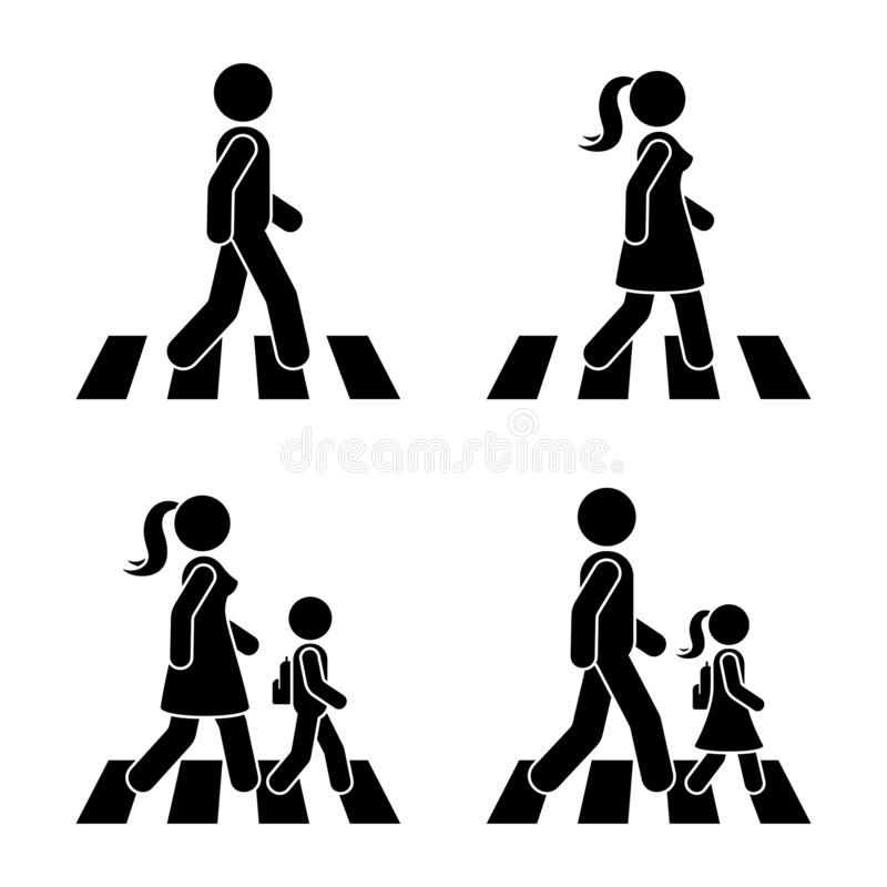 Stick Figure Walking Pedestrian Vector Icon Pictogram Man Woman And Children C Sponsored Advertisement Sponsored Pictogram Vector Icons Stick Figures