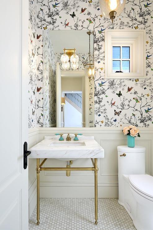 schumacher birds and butterflies wallpaper creates On papel pintado baño castorama