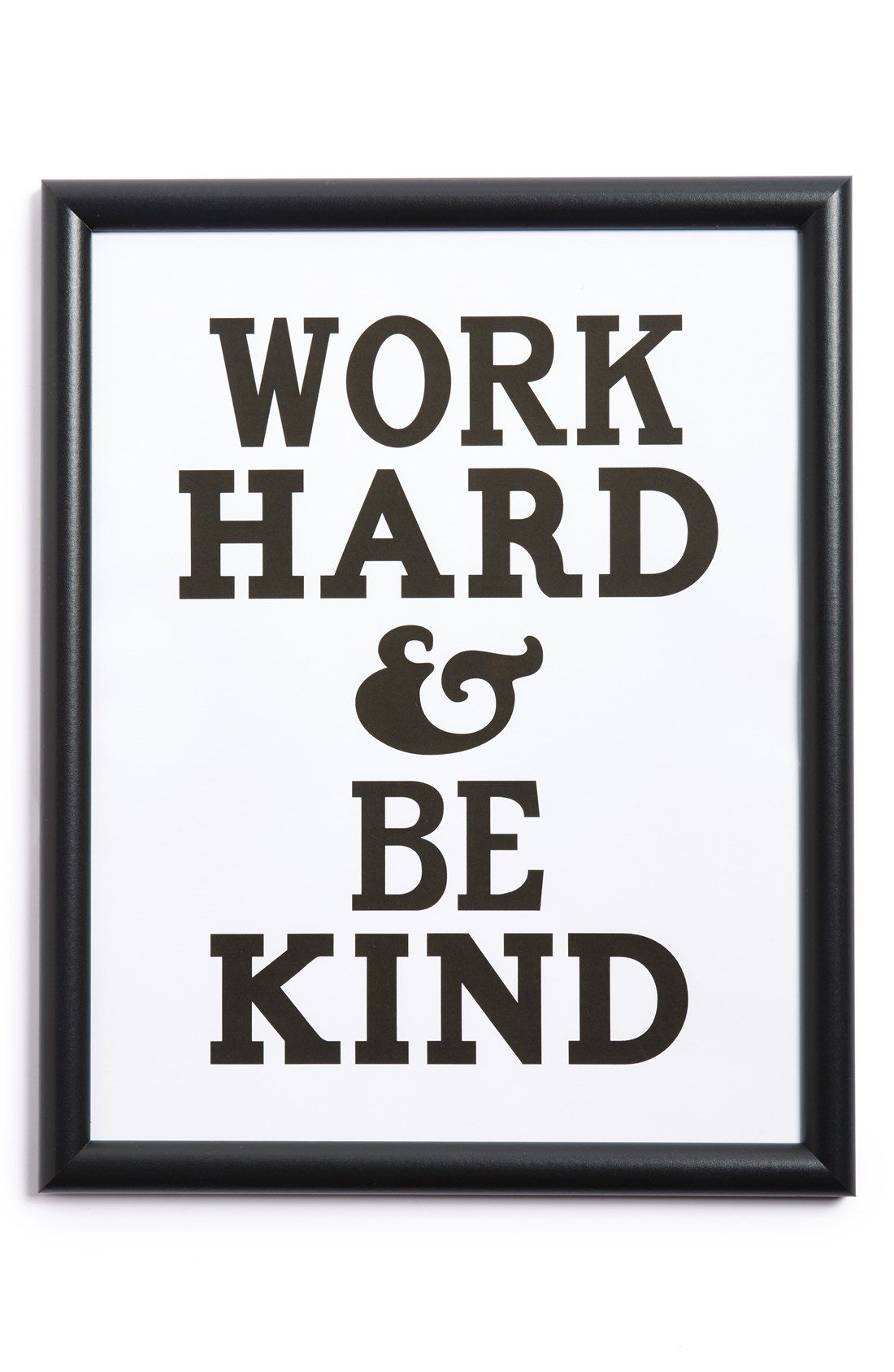 CANTON BOX CO. 'Work Hard and Be Kind' Wall Art