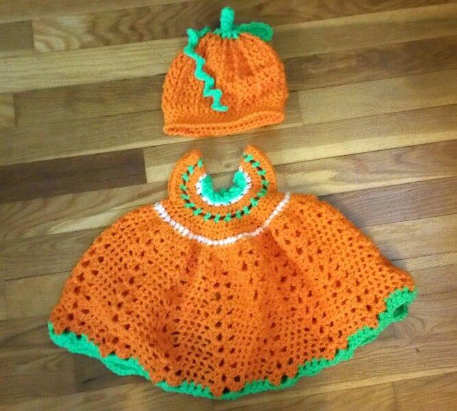 pumpkin birthday dress for Harper.