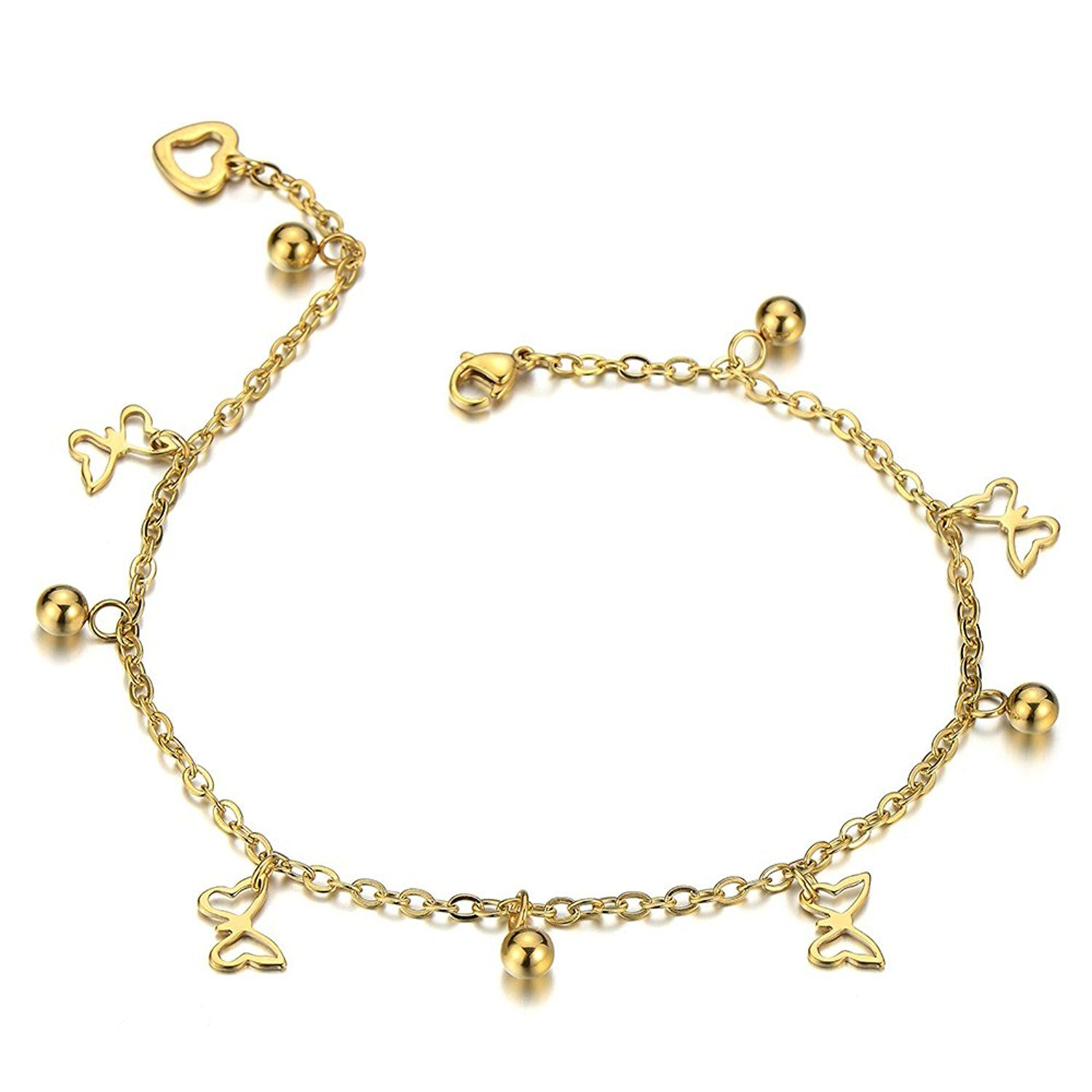 charms dragonfly hollow butterfly with out rose ankle delicated gold women from product anklets barefoot chain anklet layer sandals tone womens jewelry bracelets foot