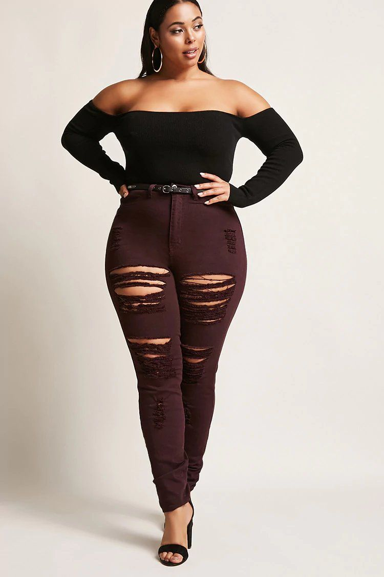 51c7c9868 Product Name Plus Size High-Waisted Jeans