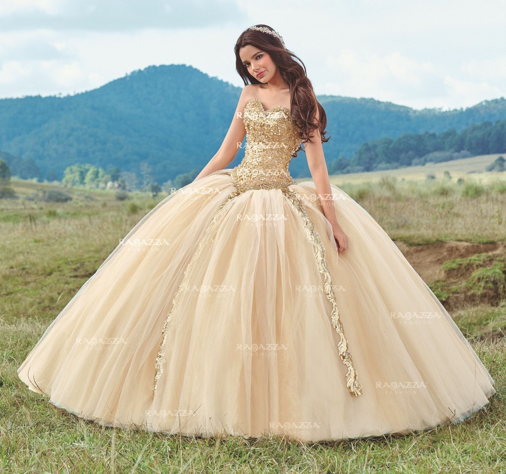 ebcb16685 Beaded Strapless Quinceanera Dress by Ragazza Fashion Style B75-375