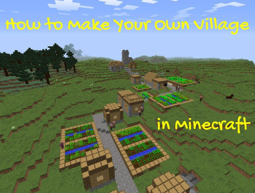 Are there few villages on your Minecraft world? Learn how to make