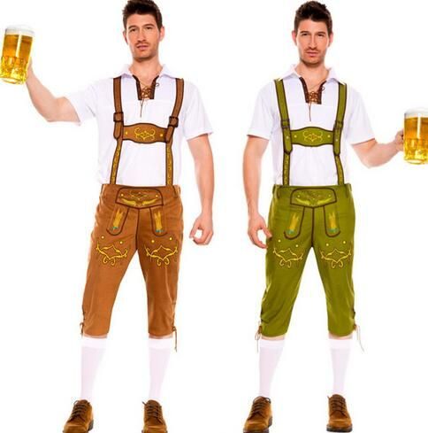 2016 Hot Man Adult Costume Sexy Oktoberfest Fancy Dress Bib Short - 2016 mens halloween costume ideas