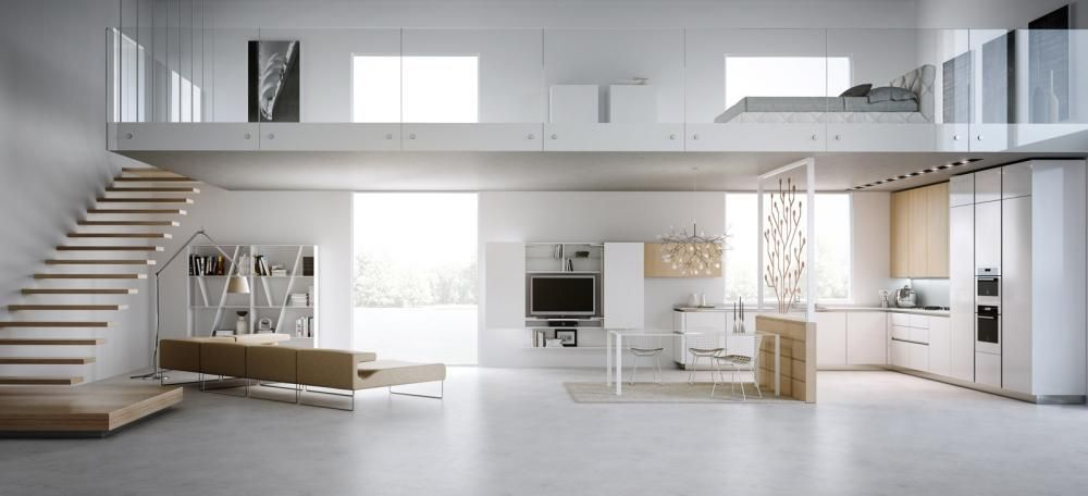 Modern Home With Very Simply Design Iedeas Also Living Also Dining And The  Kitchen At First · Modern LoftsLoft IdeasStudio ...