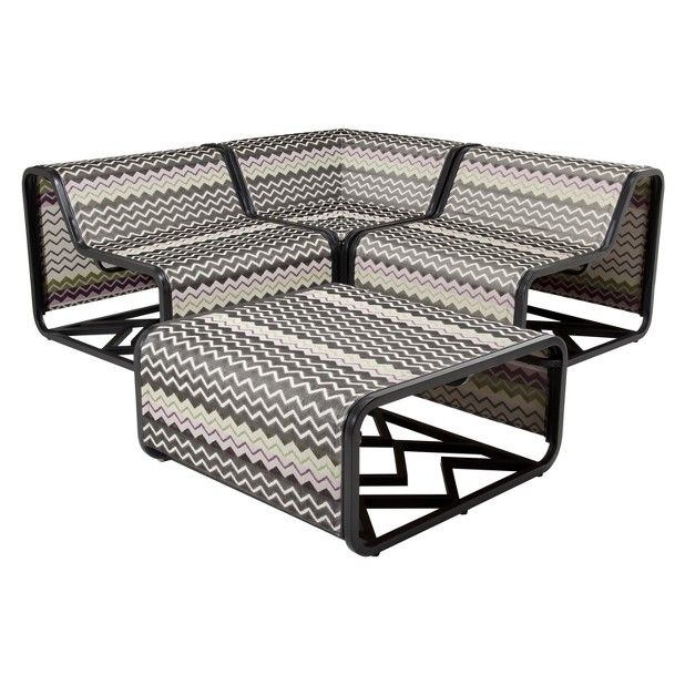 Missoni For Target 4 Piece Sling Sectional Set Target Outdoor Furniture Outdoor Patio Set Patio Set