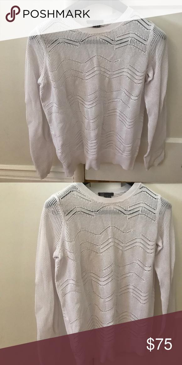 Vince white zig zag sweater | Zig zag, Scoop neck and Cozy