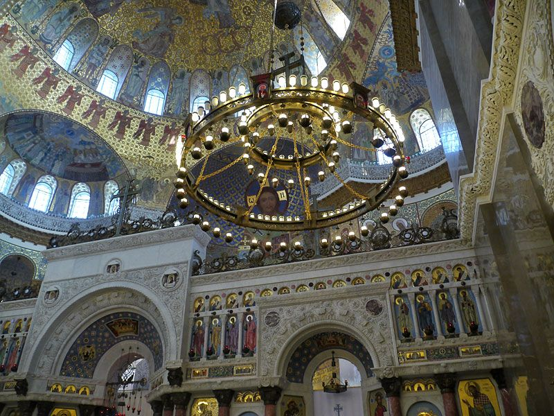 The Naval cathedral of Saint Nicholas in Kronstadt (Russia)
