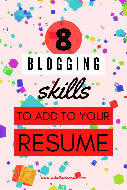 Social media discover 8 marketable blogging skills to add