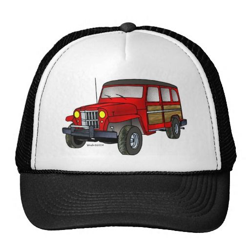 1951 Willys Jeep Wagon - Red Hat