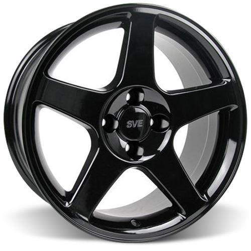 1979 93 Mustang Sve 2003 Cobra Wheel Tire Kit 17x9 Black Sumitomo Htr Z5 By Sve Wheels Wheel Cobra Mustang