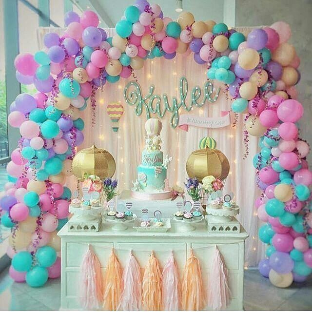 Monalisa festejandoemcasaoficial no instagram  clinda inspiracao da galeria srafesta regrann from linda decor com arco de baloes    also pin by akriti on birthday in pinterest balloon decorations rh