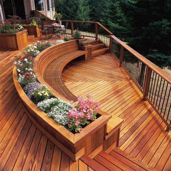 Terrasse En Bois Ou Composite   Idées Merveilleuses Pour Lu0027extérieur    Archzine.fr. Backyard IdeasPatio IdeasPatio Deck ...
