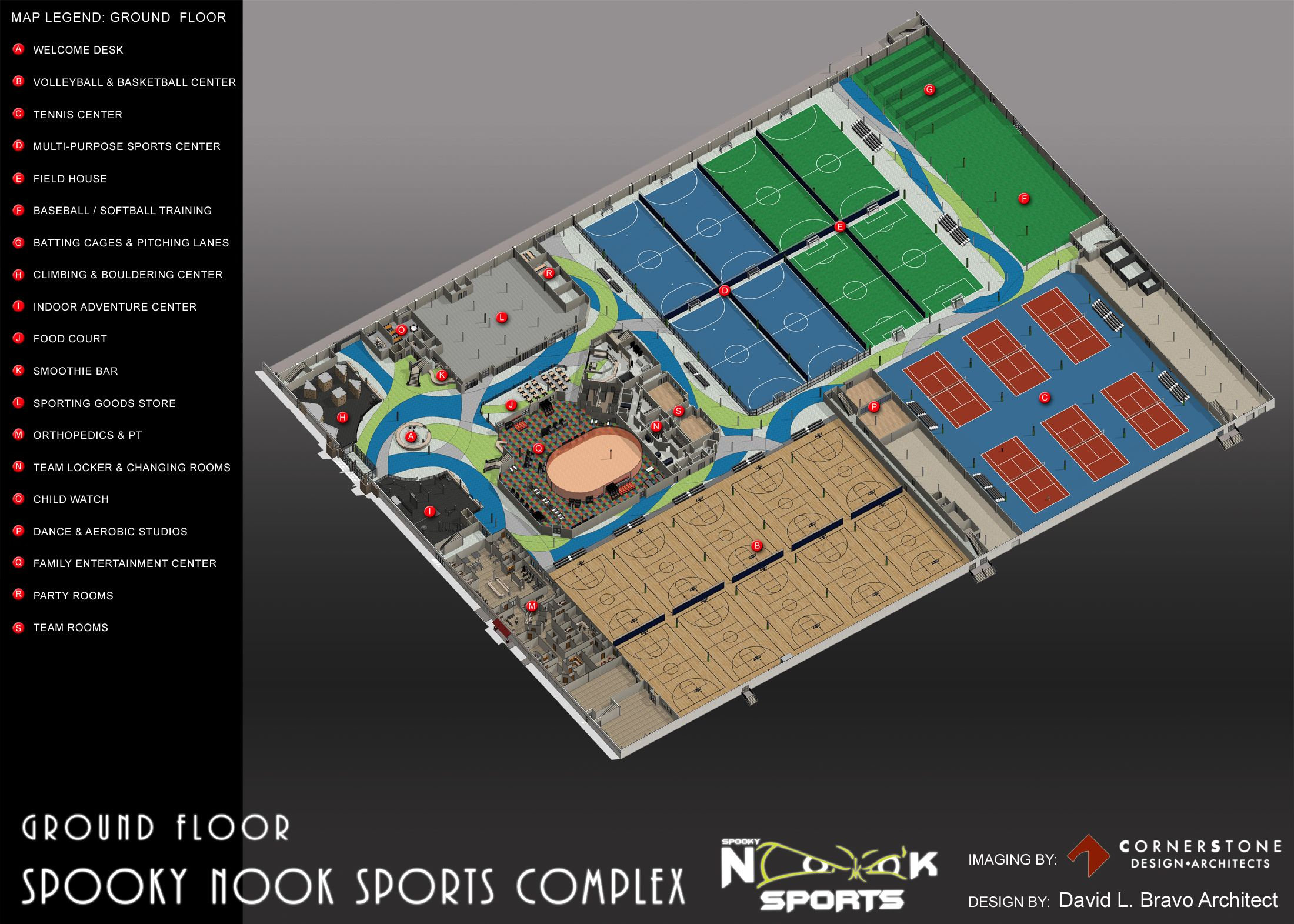 On Our Main Level We Will Feature Courts And Turf Fields For Sports Like Basketball Volleyball Tennis Sports Complex Spooky Nook Sports Softball Training