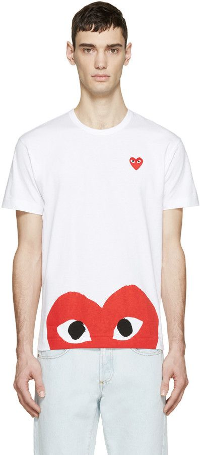 3edb46926cc0 Comme des Garçons Play White Half Heart T-Shirt | Inspiration ...