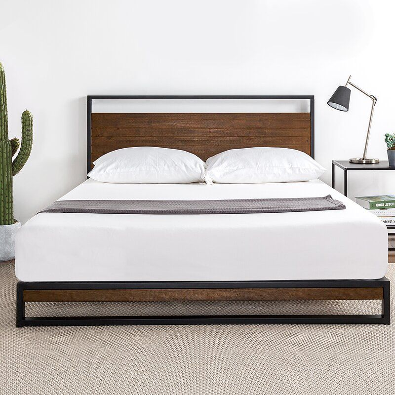 Pauletta Low Profile Platform Bed In 2020 Modern Bed Upholstered Platform Bed Modern Platform Bed