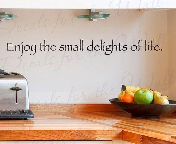 Disfrutar de pequeños placeres vida cocina comedor vinilo rotulación ...