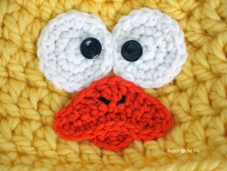 Crochet Chunky Baby Chick Hat - Repeat Crafter Me | Projects to Try ...