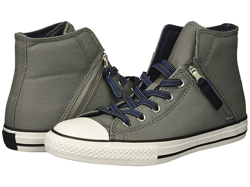2bd13903af08 Converse Kids Chuck Taylor All Star Pull-Zip - Hi (Little Kid Big Kid)  (Mason Obsidian Light Racer Blue) Boy s Shoes. From the pumpkin patch p to  the ...