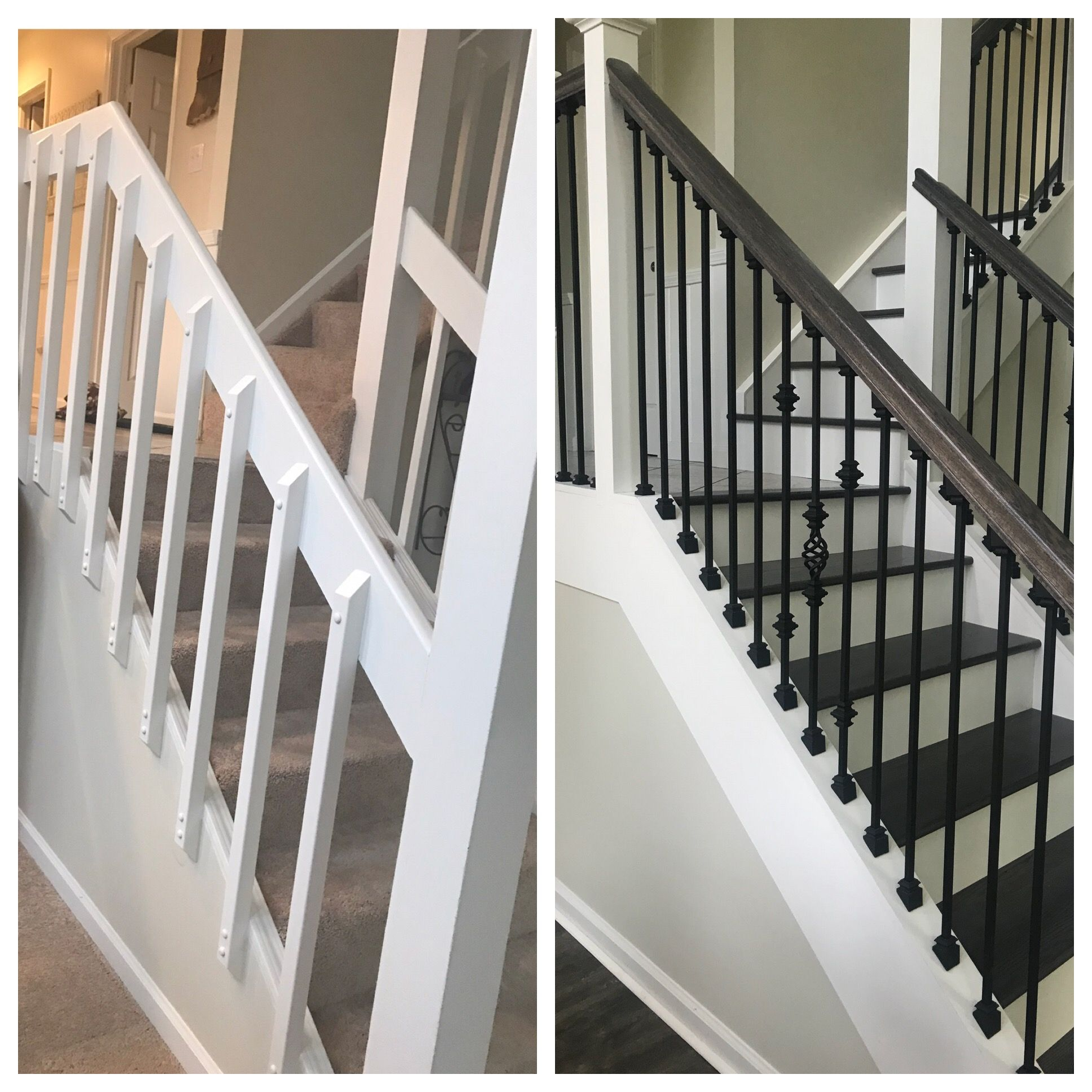 Best Stair Remodel 1980S Not To Code Face Mount Balusters Now 400 x 300