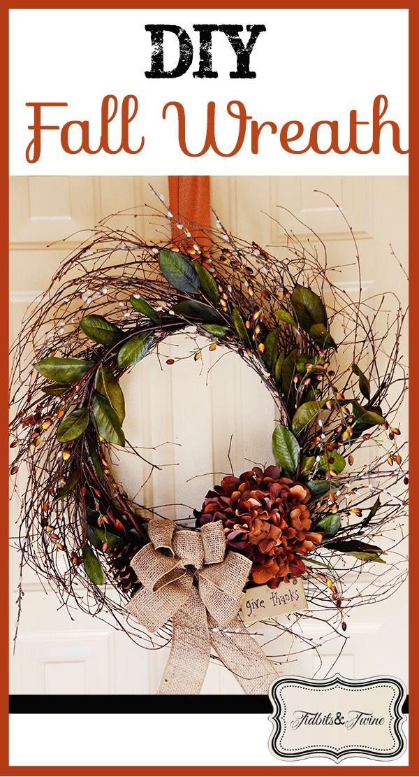 Tidbits&Twine DIY Fall Wreath