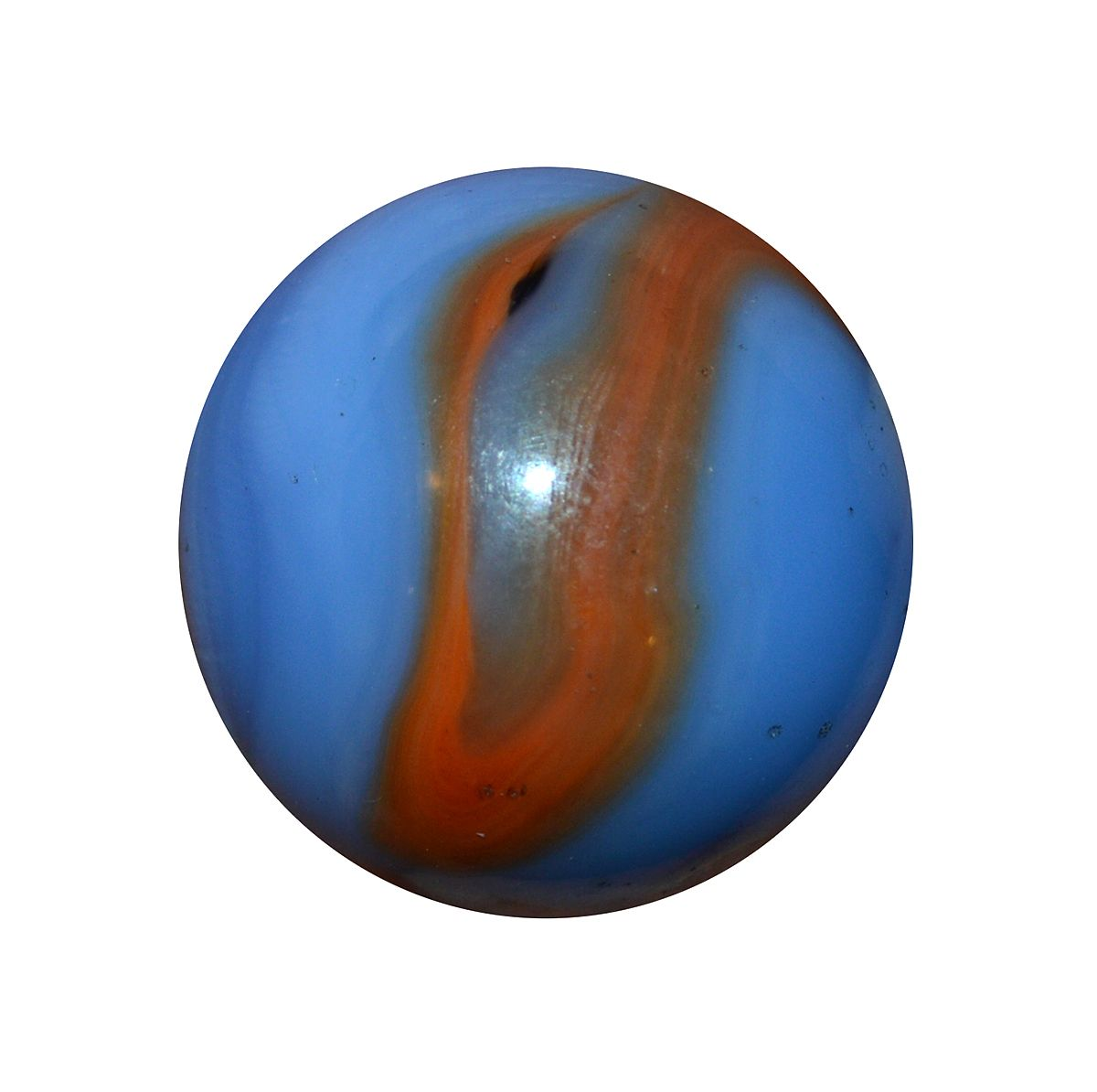 Details about  /Vintage Rare Dark Blue Akro Agate White Collectible Glass Sphere Marble