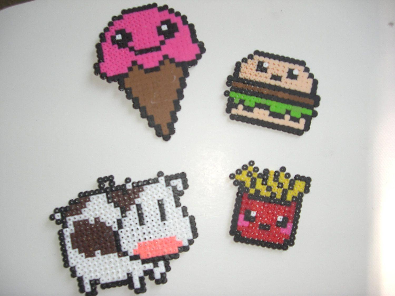 Hama beads | Hama beads | Pinterest | Hamburguesas, Vaca y Bolitas