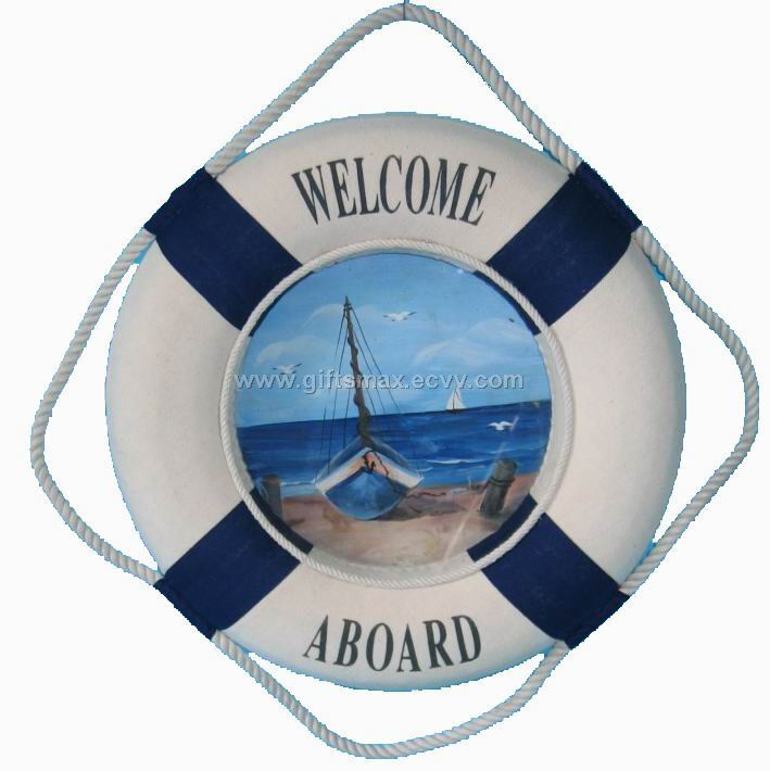 Welcome Aboard In Wooden Letters  Love The Porthole Idea
